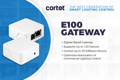 New Cortet by CEL E100 Gateway for Smart Lighting Control