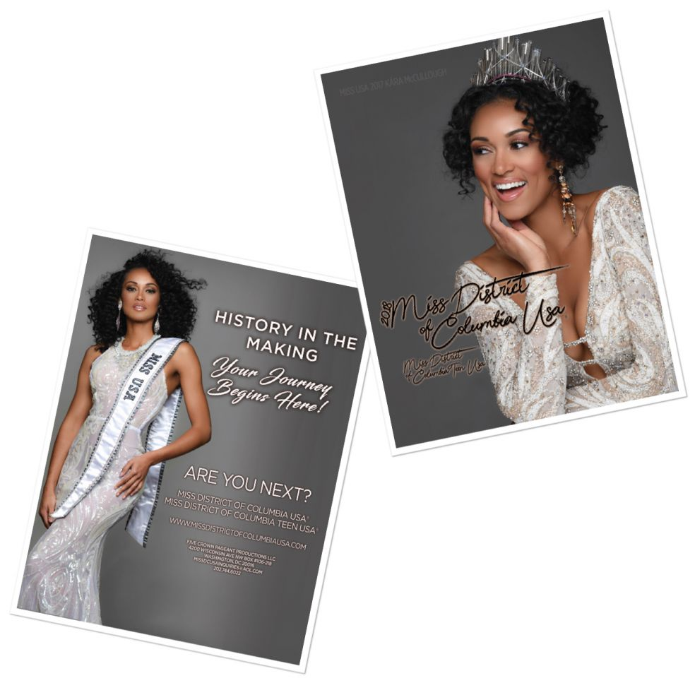 Miss DC USA 2018 Flyer featuring MISS USA 2017 & former MISS DC Kara McCullough