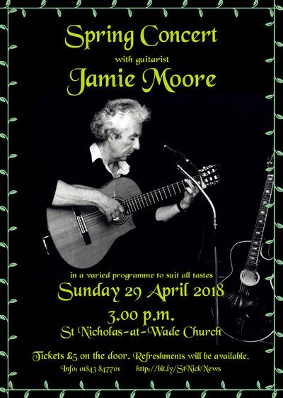 Poster: Jamie Moore at St Nicholas-at-Wade