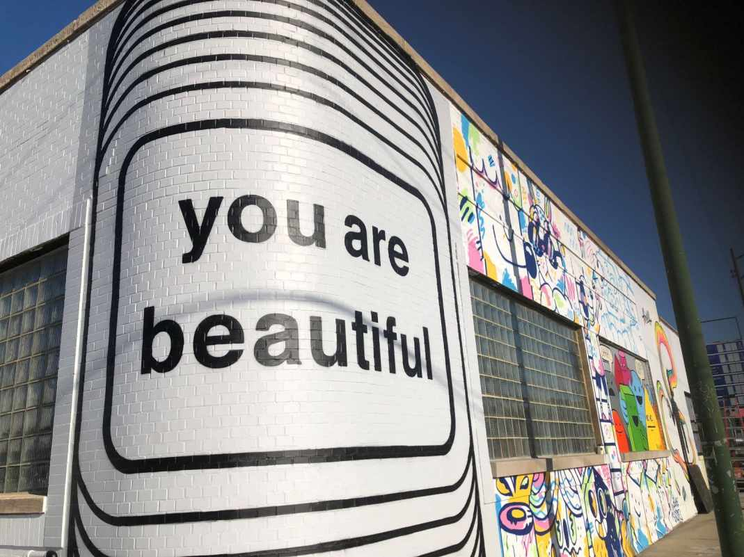 Public mural on the Cards Against Humanity building in Chicago