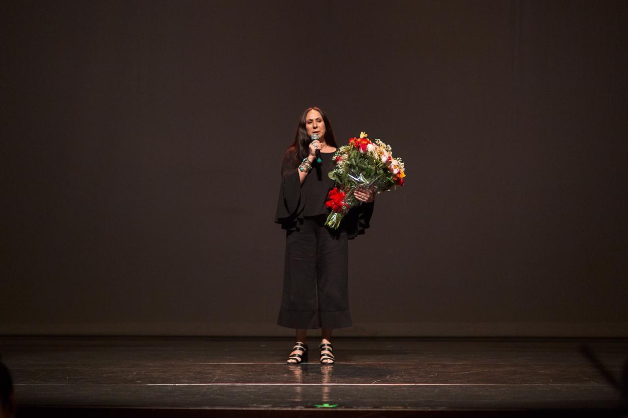 Photo of Debora Balardini by Maringas Maciel taken at the Grahla Azul Awards
