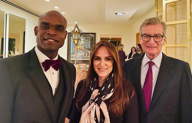 Ambassador Santigo Cabanas (Spain) with Dr. Lawrence  & Ms. Fernanda (LSF CEO).